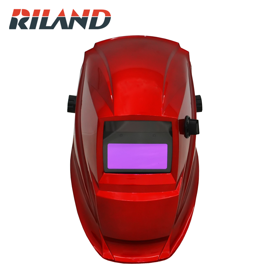 RILAND Automatic Welder mask Electric Welding Helmet MIG ARC MMA Electric Welding Cap X701B Red Color new welding cart trolley welder storage bench mig tig arc mma plasma cutter
