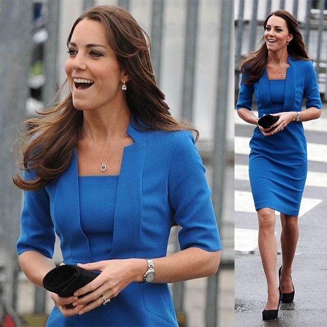 NEW blue/red New Princess kate middleton dress Women Office Lady Work Wear Dress OL Celebrity Elegant Slim Pencil Dress
