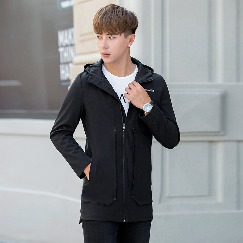 2018 New Autumn and winter Mens Fashion Outerwear Windbreaker Men S Thin Jackets Hooded Casual Coat Windproof fashion leisure