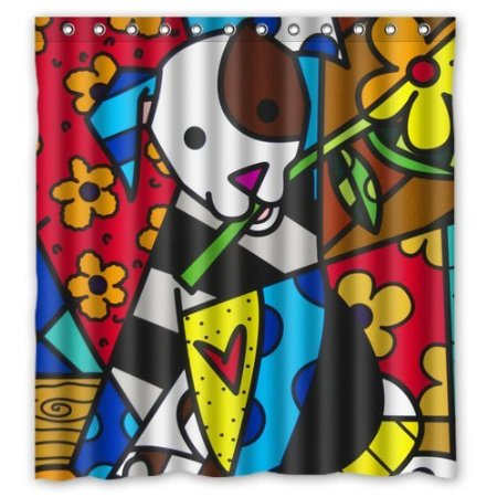 42 Bathroom Decor Romero Britto Graffiti Shower Curtain 160x180cm Waterproof Polyester Fabric Soft Bath