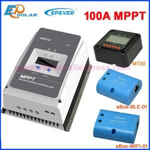 EPever 100A MPPT 12В 24В 36В 48В контроллер солнечного заряда подсветка LCD Max 150В 200В PV вход Tracer10415AN Tracer10420AN