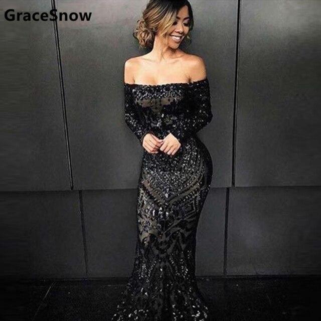 Black Floor Length Dress | Good Dresses