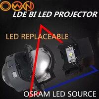 DLAND OWN LDE 3 би светодиодный комплект прожекторных фар с сменной лампочкой, 35 Вт Мощность с креплением HELLA3 и отличным низким лучом