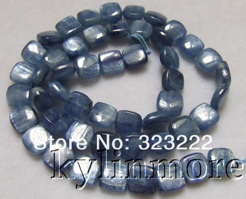 8mm natural kyanite <font><b>Square</b></font> Beads