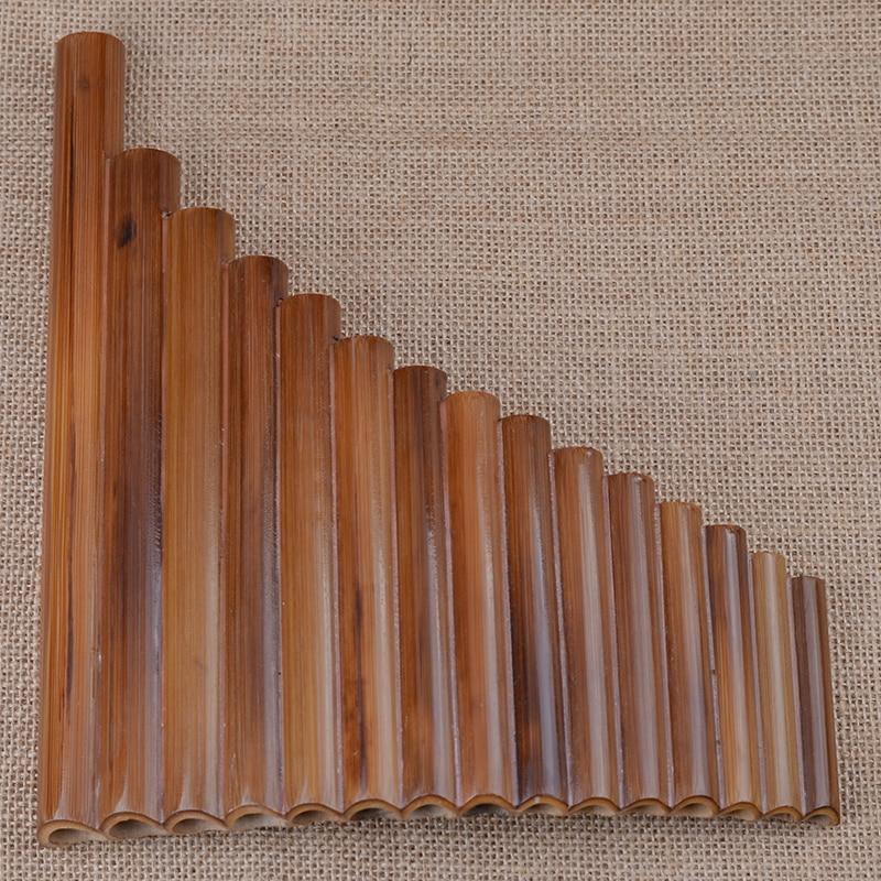 Professional pan fleyta 15 boru elementi Woodwind Flauta G açar əyri əl ilə hazırlanmış bambuk panelləri Musiqi alətidir Panflute Musiqi isti