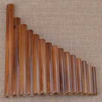Professional Pan Flute 15 Pipes Item Woodwind Flauta G Key Curved Handmade Bamboo Panpipes Musical Instrument Panflute Music Hot