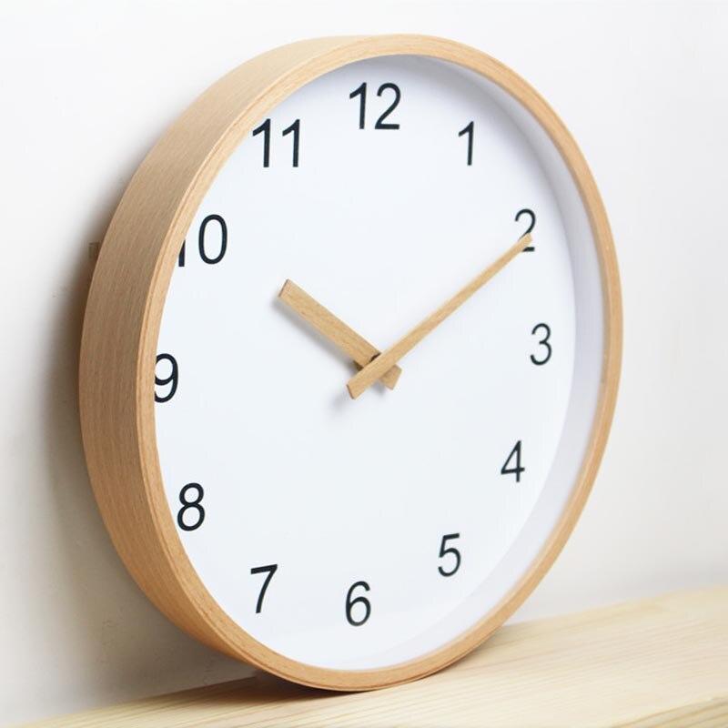 US $85.0 |12 zoll Runde Buche Holz Wanduhr Wohnzimmer Möbel Dekor Uhr-in  Wanduhren aus Heim und Garten bei Aliexpress.com | Alibaba Gruppe