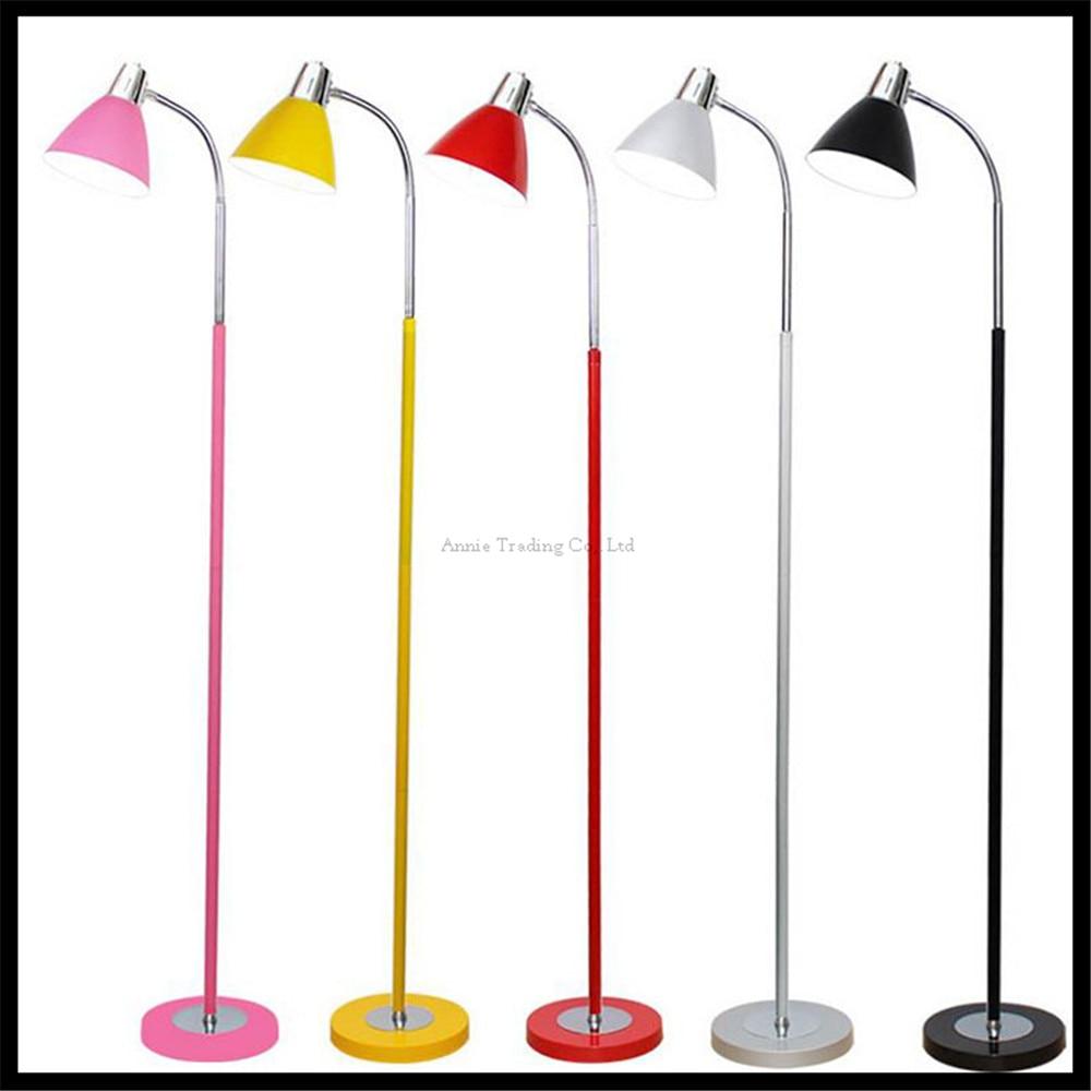 Pink Yellow Red Grey Gray Black floor standing lamp lampade da terra floor light lampen Loft beautiful floor lamps nordic lamp