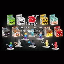Crystal Transparent Dargo 851 8pcs/lot Minifigures Building Blocks Sets Model Toys For Children