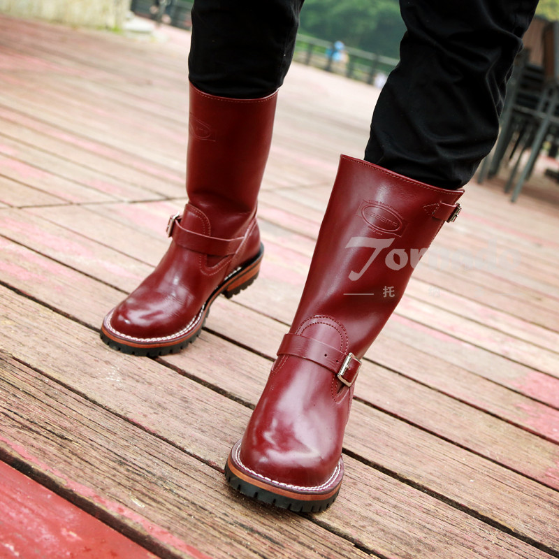 002  Mens genuine cow leather Motorcycle high heel boot Cowhide leather good quality Trooper Engineer Boots002  Mens genuine cow leather Motorcycle high heel boot Cowhide leather good quality Trooper Engineer Boots