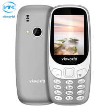 D'origine Vkworld Z3310 3D Écran 2.4 pouce Aîné Mobile Téléphones Fort haut-parleur FM Radio Led 2MP Caméra Double SIM téléphone portable