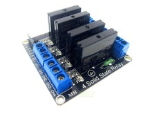 10PCS/LOT 4 Channel 5V DC Relay Module Solid State low level SSR AVR DSP for Arduino