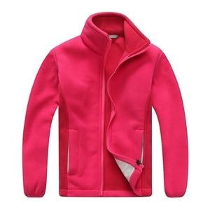 Image 3 - Windproof ילד מעיל בנים ובנות מעילי רך קוטב צמר חם ילדי הלבשה עליונה בגדי עבור 3 12 שנים
