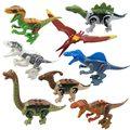 8pcs Jurassic Dinosaurs Building Blocks legoings Tyrannosaurus Movie Sets Models Bricks jurassic Toys World of park figures Toy