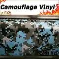 Blau Schwarz Digital Film Aufkleber Camouflage Wrap Vinyl Fahrzeug Pixel Camouflage Verpackung Aufkleber Film LUFTBLASE FREI