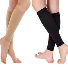 1 пара компрессионный рукав для ног, облегчающий циркуляцию варикозного расширения вен, Компрессионные спортивные гетры для похудения, женские наколенники