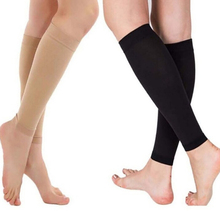 1 Pair Compression Leg Sleeve Relieve Varicose Veins Circulation Slimming Stovepipe Sport Legwarmers Women Knee Pads