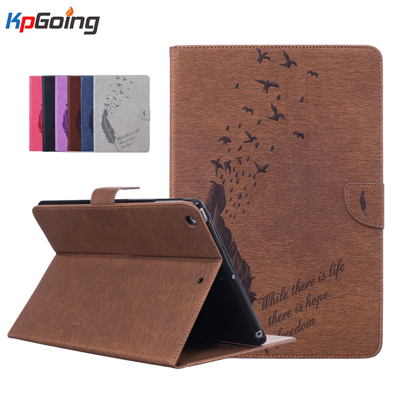 Fashion Feather Case for IPad Air iPad 5 Ultra Slim PU Leather Smart Case Cover for Apple iPad Air 2015 Flip Folding Folio Cases brand new case cover for apple ipad air 2 ipad 6 2014 pu leather flip smart stand case two folding folio cases for ipad air 2