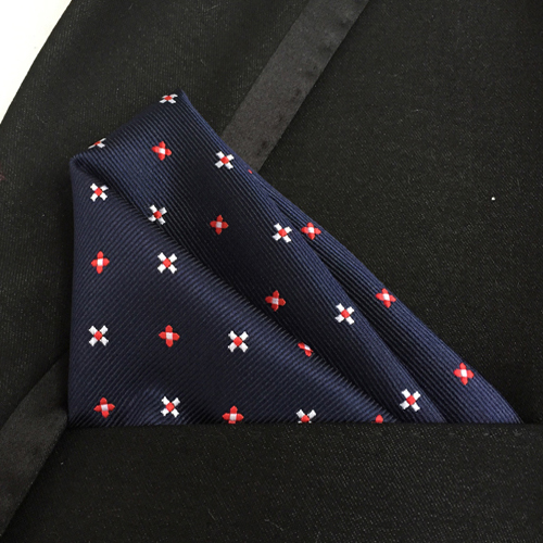 Lingyao Luxury Pocket Square High Quality Woven Handkerchief Unique Floral Flower Hanky Match Suit
