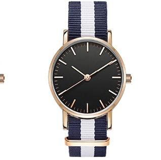 Nowe mody kobiet zegarek nylonowy pasek NATO biznesu na co dzień - Zegarki damskie - Zdjęcie 4