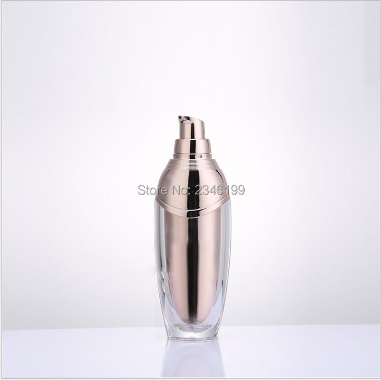 Acrylic Cream Jar 50g Rose Gold Lotion Pump Bottle Emulsion Pump 100ml Acrylic Cosmetic Container Empty Cosmetic Packaging (3)