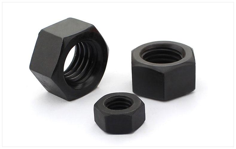 DIN934 8.8 carbon steel hexagon nuts black M2 M2.5 M3 M4 M5 M6 M8 M10 M12 M14 M16 M18 M20 M22 M24 M27 M30 nut cap screw cap brass hex nut brass nut m2 m2 5 m3 m4 m5 m6 m8 m10 m12 m14 m16 m18 m20 metric thread