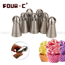 ФОТО 7  hot  Russian ball nozzle  Sphere stainless steel Icing Piping nozzles pastry cupcake decorating