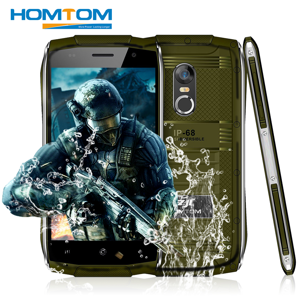 HOMTOM ZOJI Z6 Original 4.7 inch IP68 Waterproof Smartphone Android 6.0 MTK6580 Quad Core 3G 1.3GHz 1GB RAM 8GB ROM Cell Phones