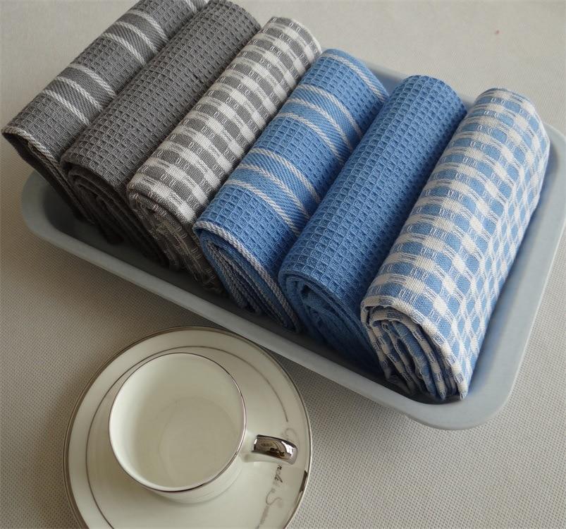 Kitchen Dish Towels With Vintage Design For Kitchen Decor Super Absorbent 100% Natural Cotton Kitchen Towels