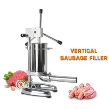 ITOP Vertical Sausage Stuffers Stainless Steel Meat Filling Machine With 4 Funnels Food Processors Household Or Commercial