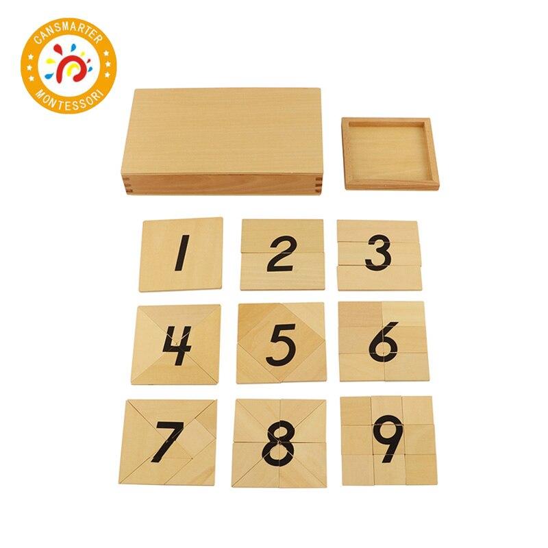 Jouet bébé Montessori Puzzle 1-9 numérique numéro Segmentation numérique avec boîte en bois Puzzle jouets éducation précoce - 3