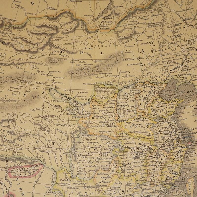 20 Pcs Map World English Version 63.5*51.5cm National Geographic Atlantic International Kraft Paper Poster Decorative Core