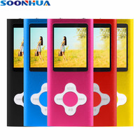 SOONHUA 1.8 inch Color LCD Screen MP4 Player 16GB Music Player With FM Radio E book HD Video Portable Running MP3 Music Player