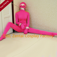 Free Shipping DHL Sexy Adult Lycra Spandex Bodysuit Rose Red Full Body Zentai Suits With Rivet On Shoulder LL1301