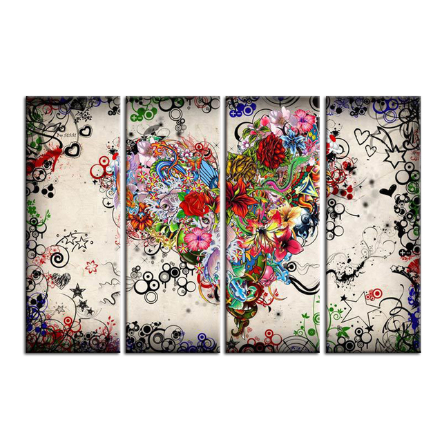 panel canvas print art picture us model the heart of the flower, Beautiful flower
