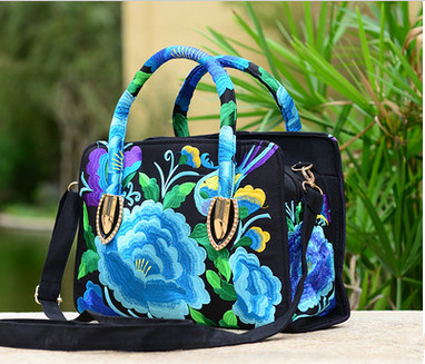New Coming Embroidered Multi-use bags!Hot National Shopping Floral embroidery shoulder&Handbags Women's messenger Small handbags