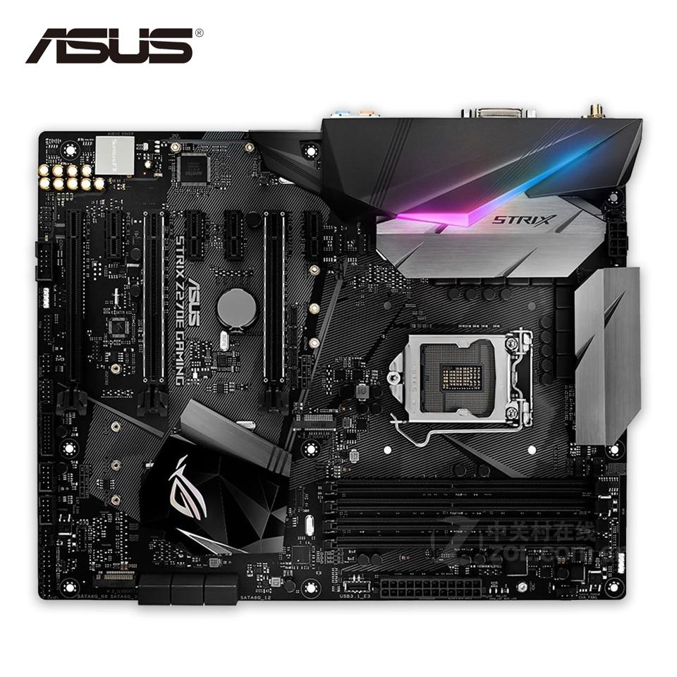 все цены на  Asus ROG STRIX Z270E GAMING Original New Desktop Motherboard Z270 Socket LGA 1151 i7 i5 i3 DDR4 64G SATA3 USB3.1 ATX  онлайн
