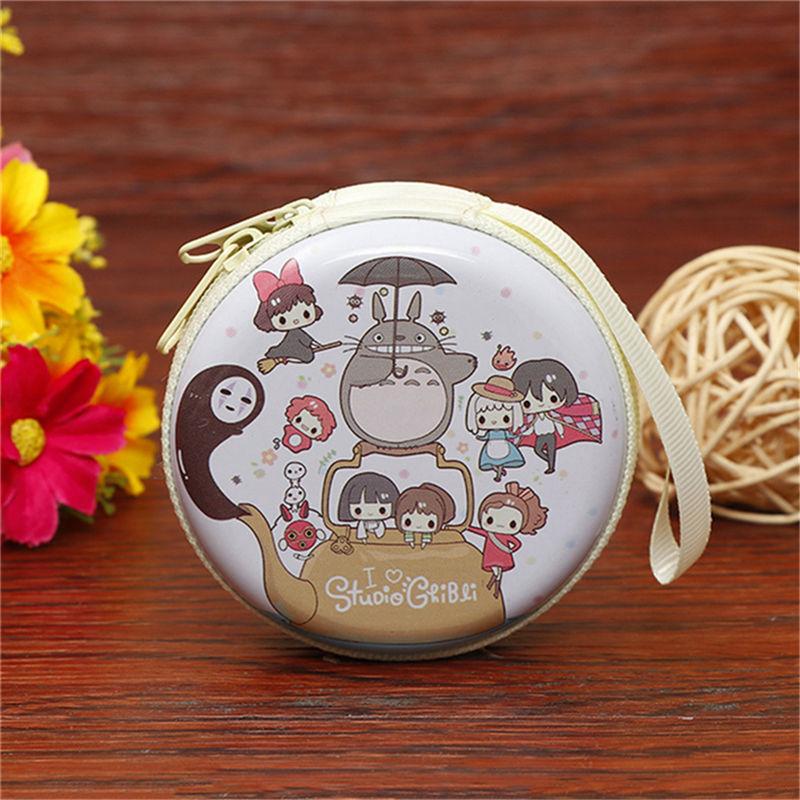 Лидер продаж, кошелек для монет с героями мультфильмов, Эльза, Анна, принцесса, чехол для ключей для девочек, кошелек, детский Снежная королева, гарнитура, сумка для монет - Цвет: Totoro 1