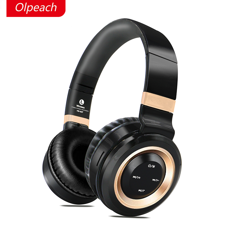 OPEACH Wireless Headsets Bluetooth Headphones stereo headset with Mic Support TF Card FM Radio for iPhone Samsung Xiaomi Huawei wireless foldable bluetooth headphone stereo headset with mic support tf card fm stereo radio tf mp3 player for iphone samsung