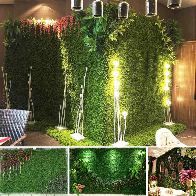 40cm x 60cm simulation of plastic green artificial grass lawn for