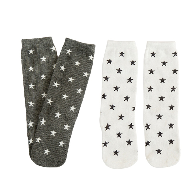 School Socks Slip Girl Boy Patterns Knee High For 0-6Y Kid Socks Toddler Anti Socks Cute Star Baby Infants Cotton