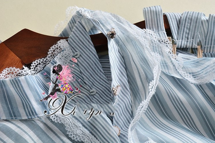 See Orange Брендовое осеннее шифоновое платье, полосатый рукав фонарик, платья, Robe Femme Ete 2018, женское вечернее платье ND2300 - 4