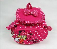 Envío libre!!! HOT Pequeño Pequeño Bebé Niños Niñas Mochilas Bolso de Escuela de La Historieta de Minnie Mouse para Niños EWX