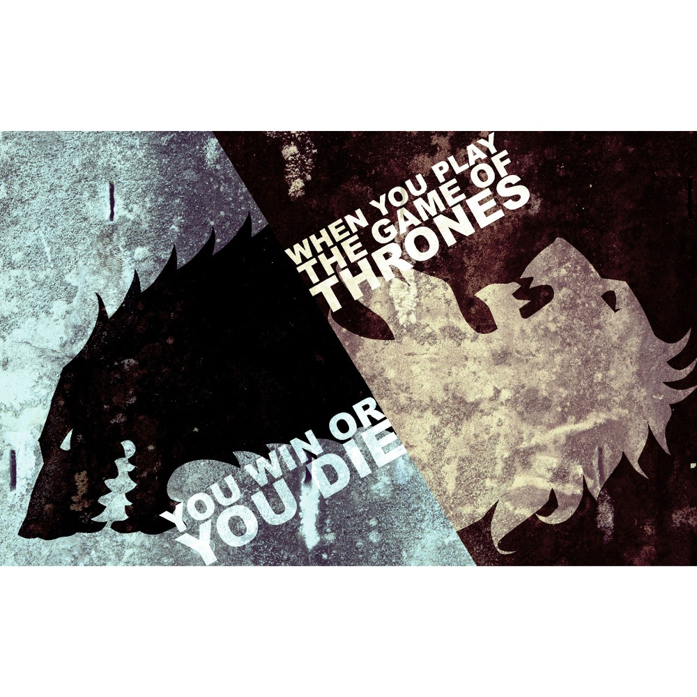 Game of Thrones (A song of Fire and Ice ) The Lion and the Wolf Playmat Board Game Cards tab pad