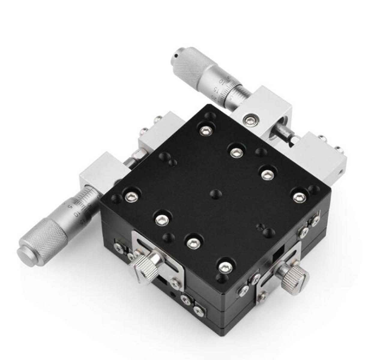 XY 2axis 40X40mm Left Adjustable Precision Linear Stage Cross-roller Bearing For Automation Sliding Linear CNC Photology