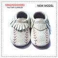 Бейсбол Кожаные Детские Мокасины, ребенка малыша обувь, спортивный Кожаный Ребенка Moccs Детская впервые уокер Малышей детские мокасины