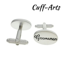Cuffarts Wholesale Cufflinks For Mens 50 Pair Oval Wedding Groomsman Cuff Link 2018 Cufflinks C10102