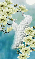 3D DIY Diamond Embroidery Animals Full Mosaic Square Diamond Painting Cross Stitch Peacock And Flowers Needlework