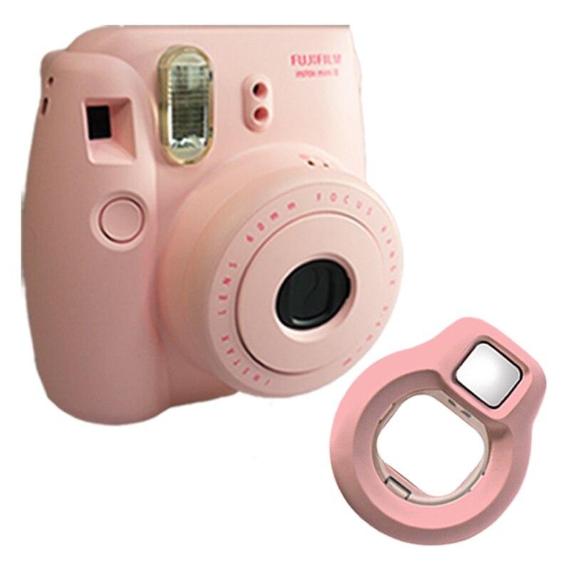 Fuji Fujifilm Instax Mini 8 Instant Photo Film Camera – Pink + Close-up Lens Selfies Mirror