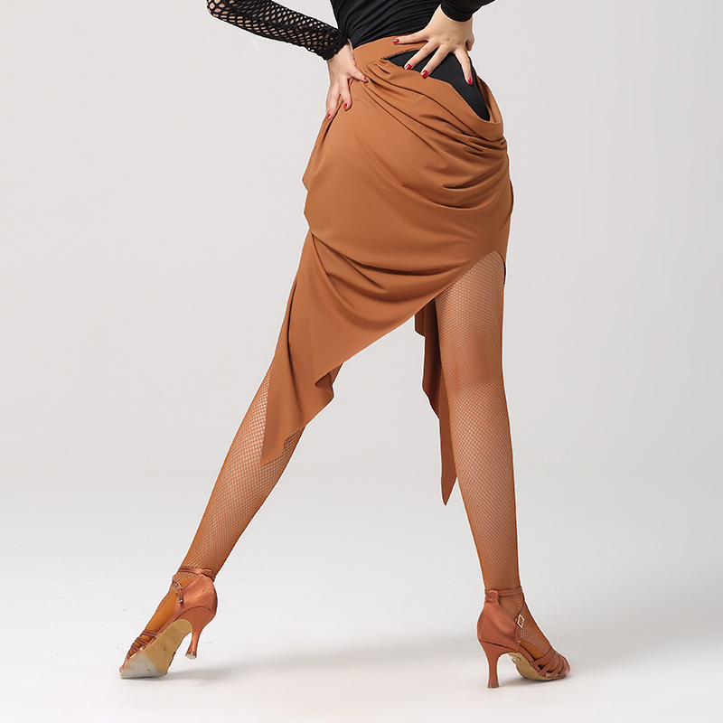 Robe de danse latine noir camel jupe de danse latine robe latine femmes vêtements de danse jupe latine salsa costumes de danse modernes